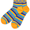 Polka Stripe Grey/Orange Men's Socks