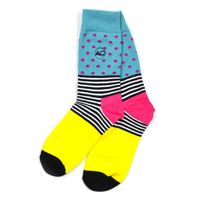 Polka Stripe Zebra Men's Socks