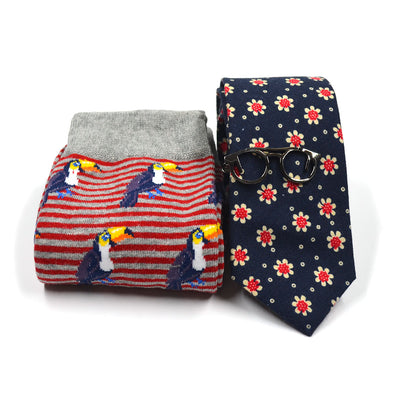 Sunflower Navy Tie and Sock Set