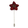 Wildflower Crimson Lapel Pin