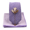 Royal Purple Tie Set
