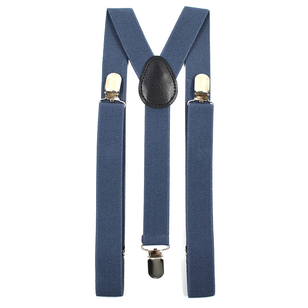 Solid Slate Grey Suspenders
