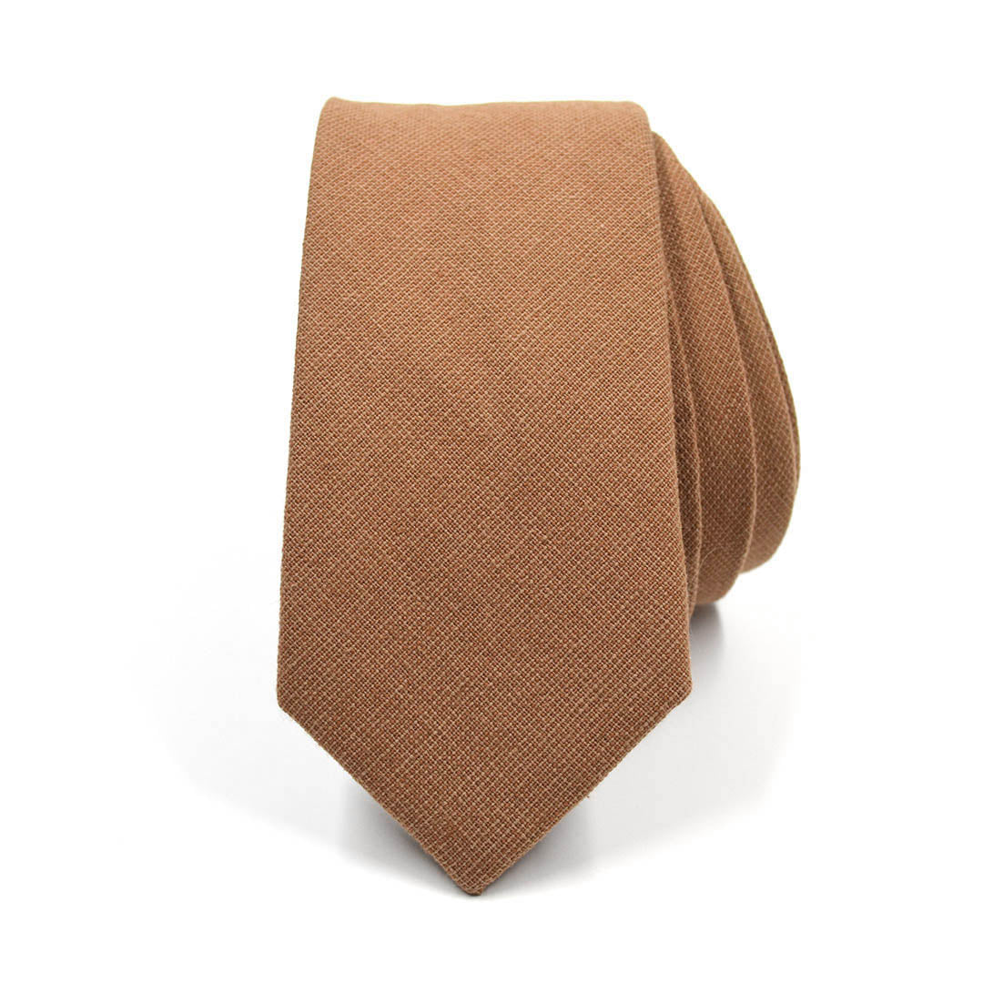Solid Burnt Orange Tie