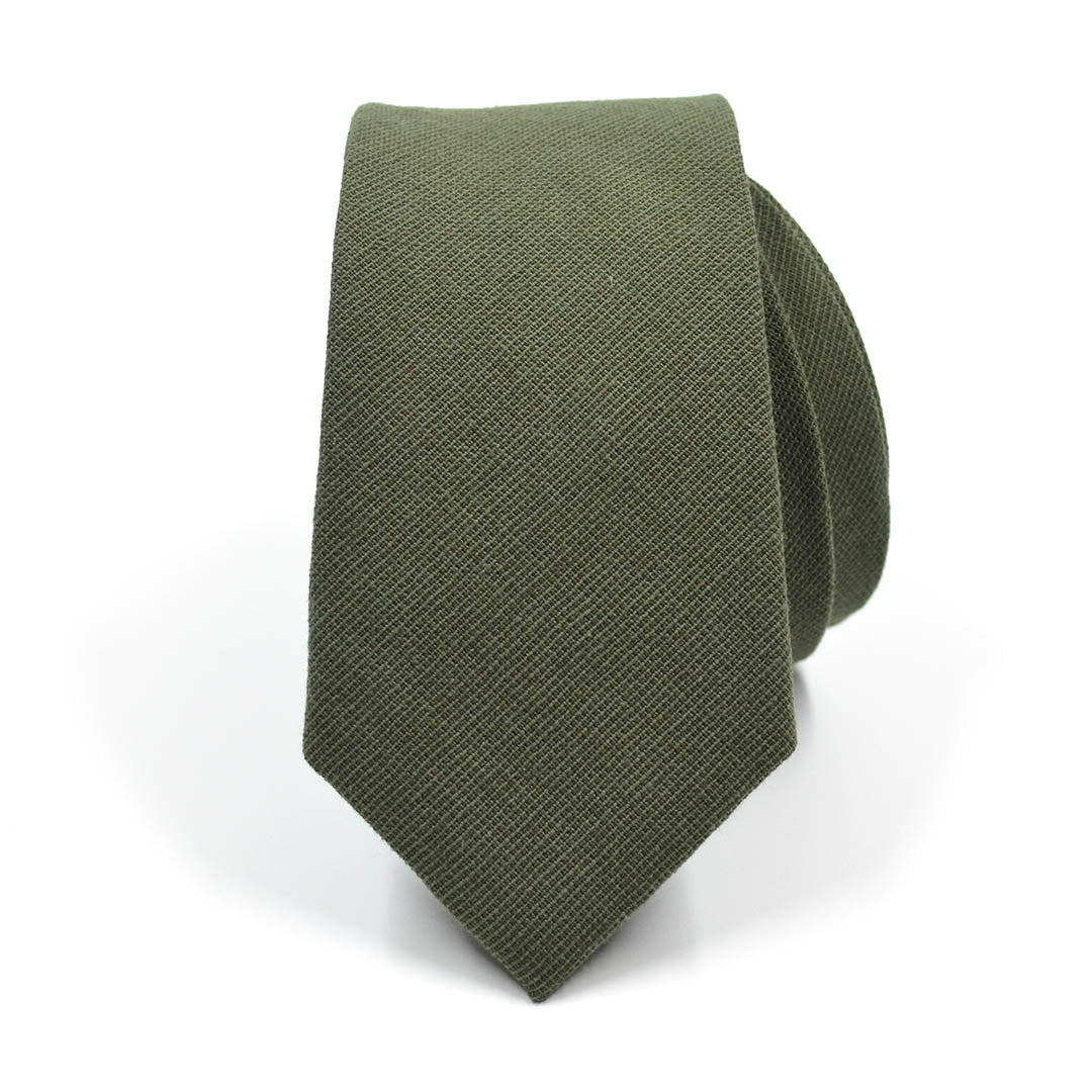Solid Olive Tie