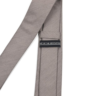Solid Taupe Tie
