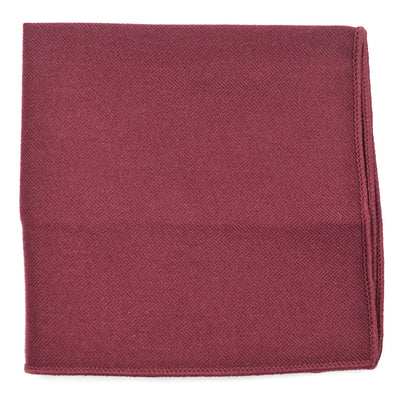 Solid Burgundy Pocket Square