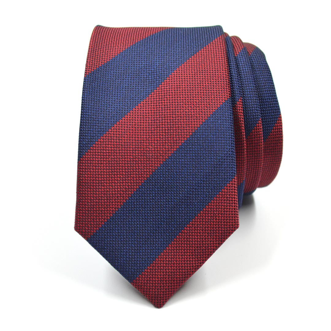Striped Birdseye Navy Tie