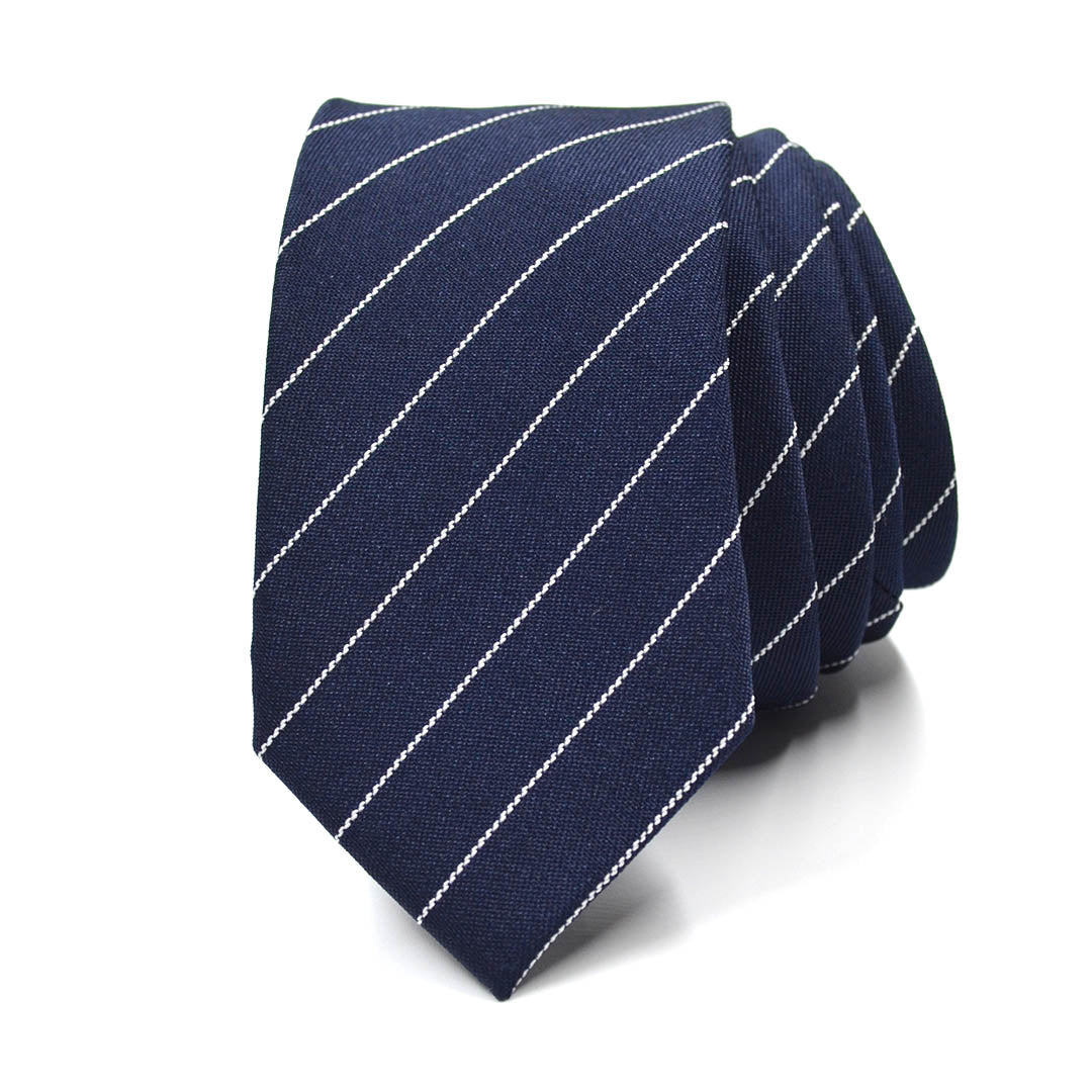 Striped Blue Steel Tie