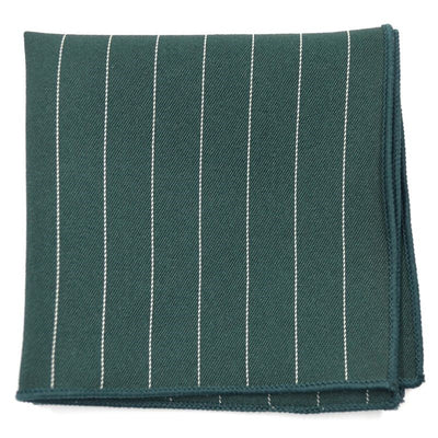green striped pocket square