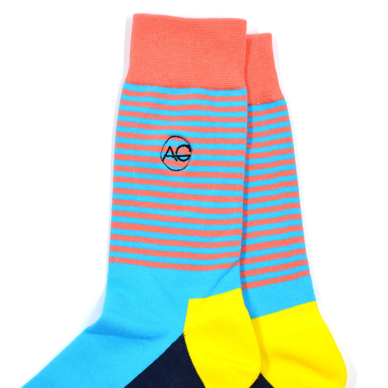 Striped Aqua Men's Socks