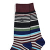 Striped Burgundy Men's Socks