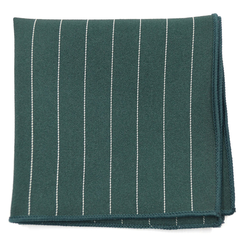 Striped Green Pocket Square