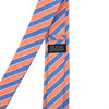 Striped Light Orange Denim Tie