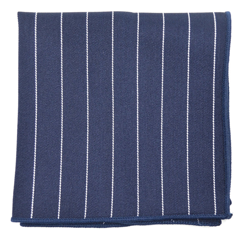 Striped Navy Pocket Square