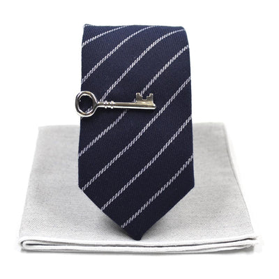 Striped Navy Tie Set