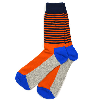 Striped Orange Men's Socks