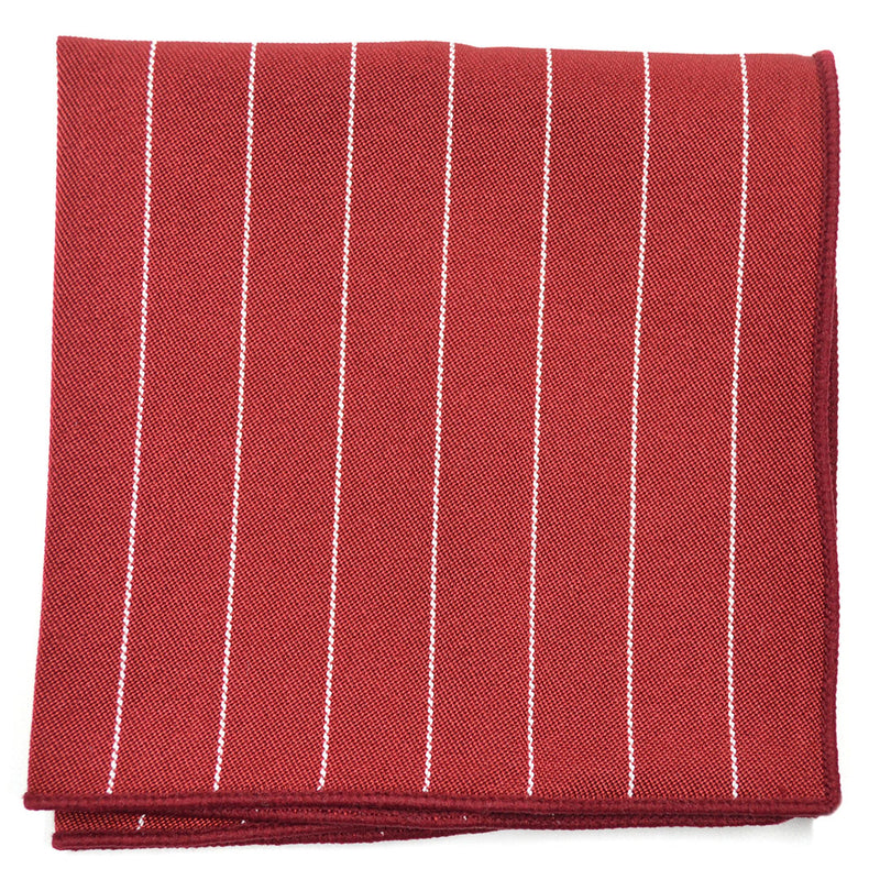 Striped Maroon Pocket Square