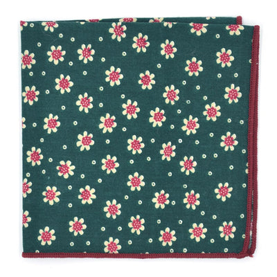 Pocket Square - Sunflower Juniper Green Pocket Square