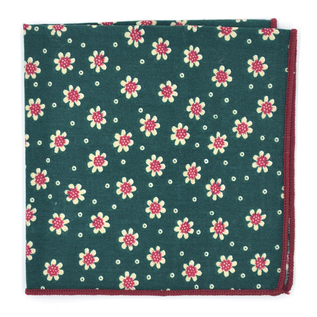Sunflower Juniper Green Pocket Square