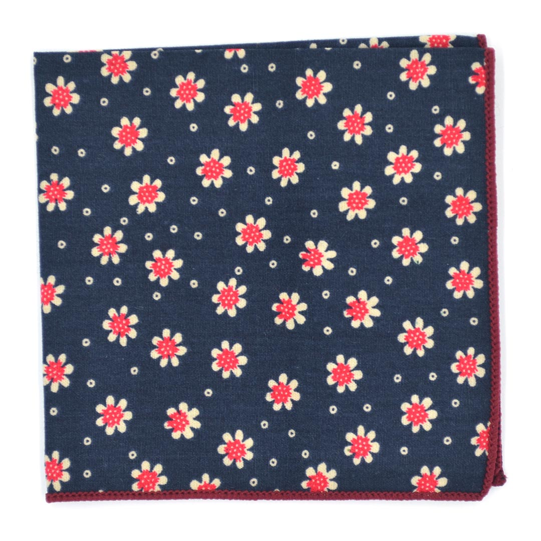 Pocket Square - Sunflower Navy Pocket Square