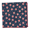 Sunflower Navy Pocket Square