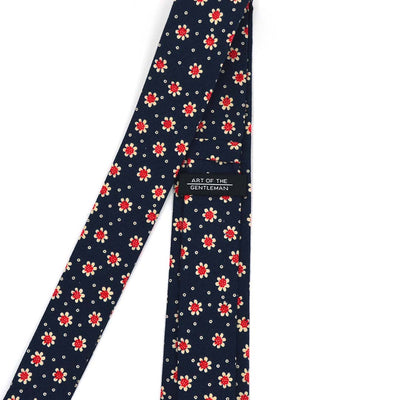 Sunflower Navy Tie