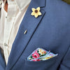 Floral Trade Wind Pocket Square