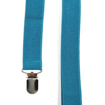 Solid Turquoise Suspenders