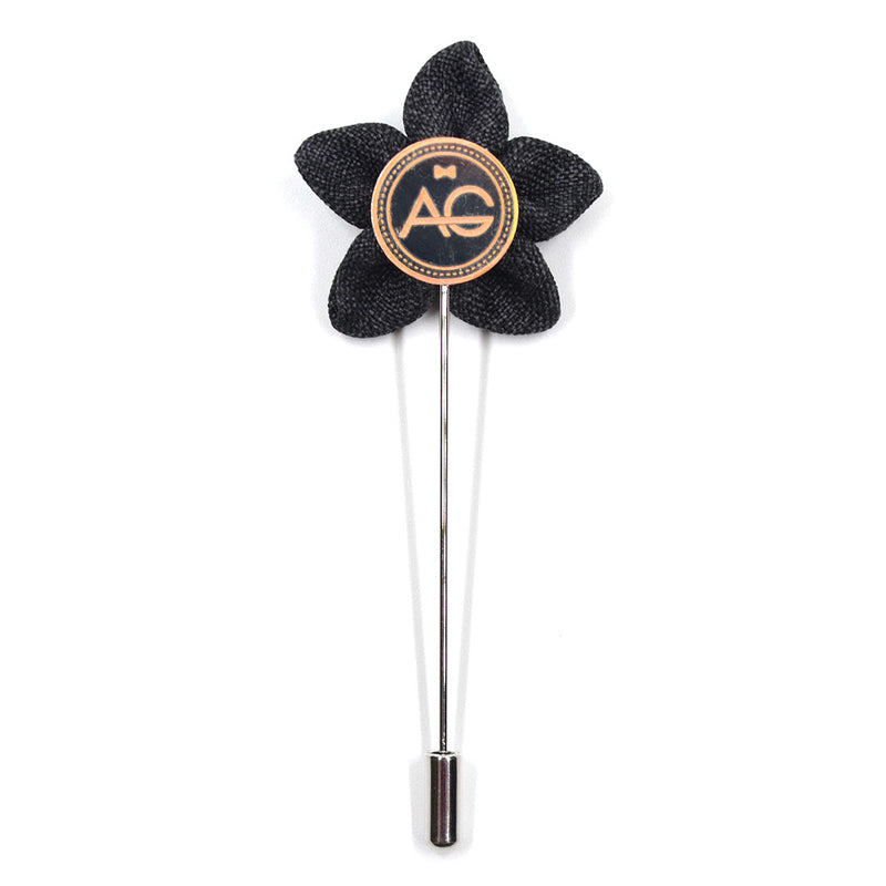 Lapel Pin - Wildflower Charcoal