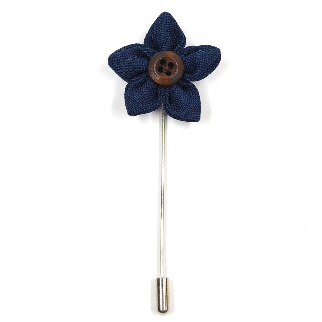 Lapel Pin - Wildflower Navy