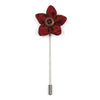 Lapel Pin - Wildflower Crimson