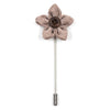 Lapel Pin - Wildflower Teak