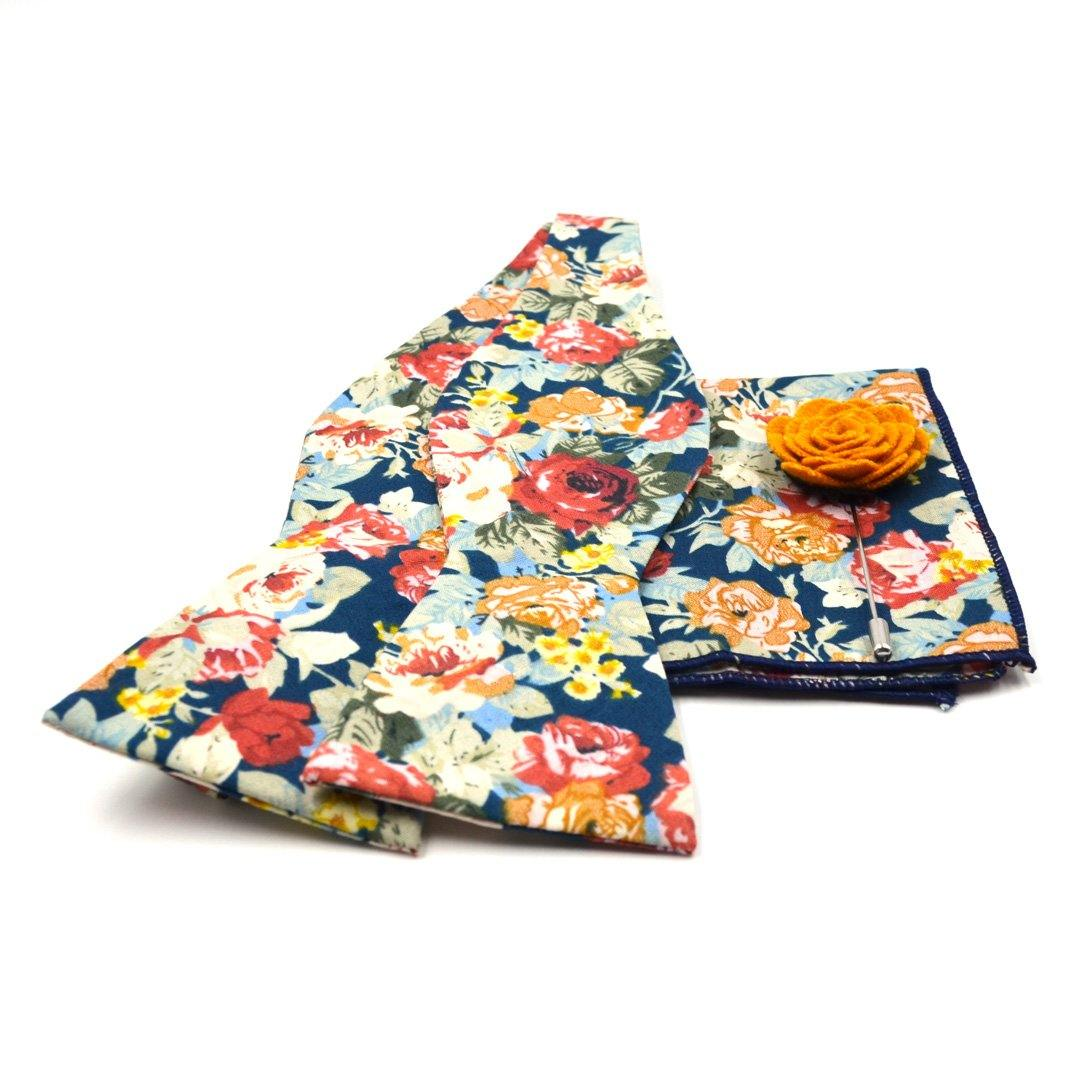 Bow Tie Set - Floral Rose Meadow Bow Tie Set