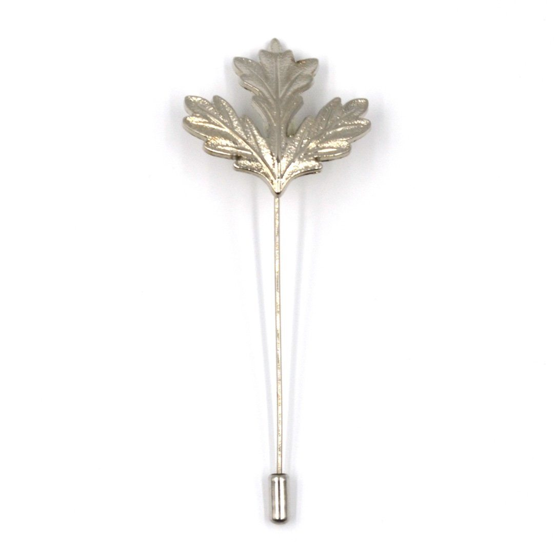 c39dce6588c4 Lapel Pin - Silver Maple Leaf - Art of The Gentleman