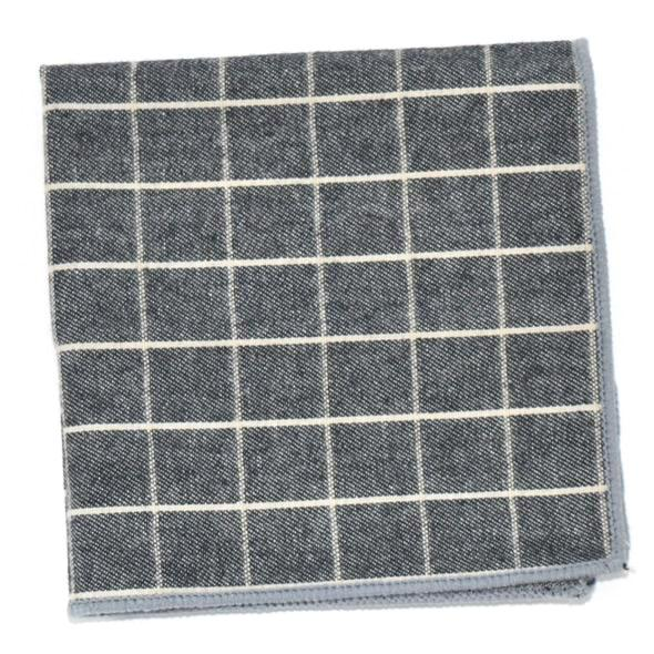 Pocket Square - Checkered Aegean Pocket Square