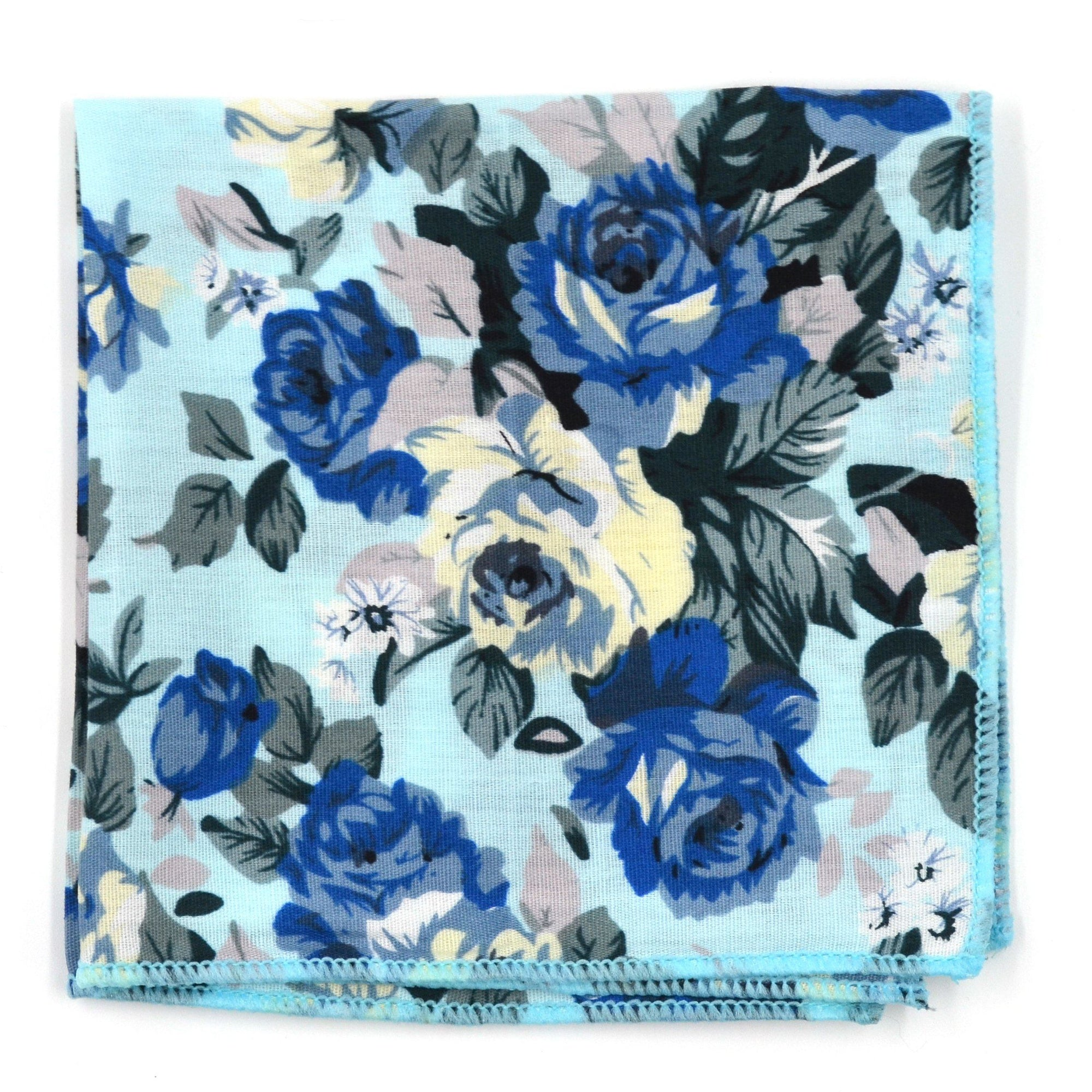 Pocket Square - Floral Baby Blue Pocket Square
