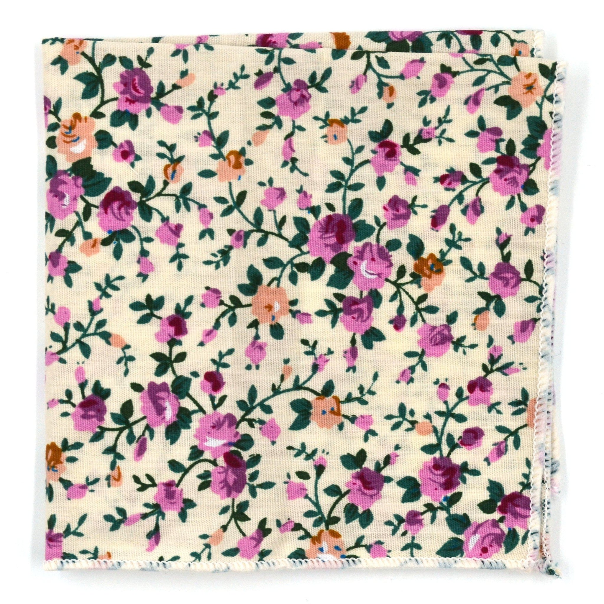 Pocket Square - Floral Ivy Rose Pocket Square