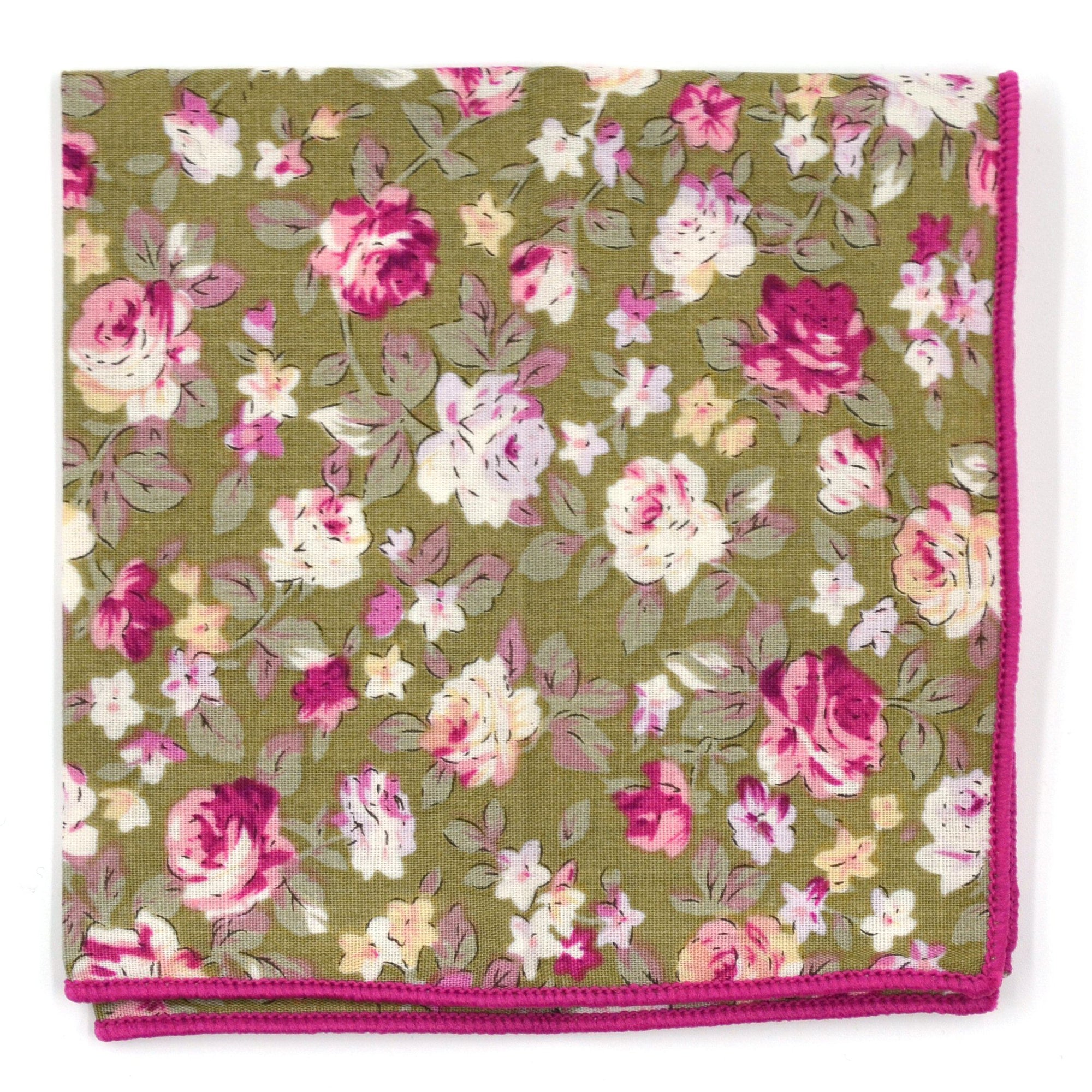 Pocket Square - Floral Lily Rose Pocket Square