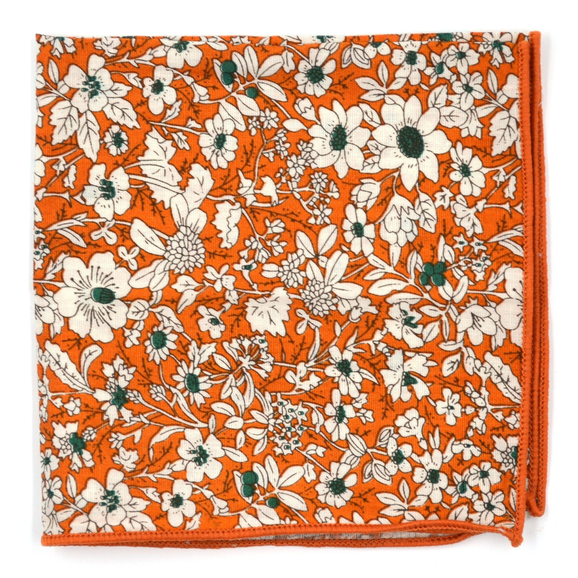 Floral Tiger Pocket Square