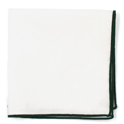 Pocket Square - Green Border Pocket Square