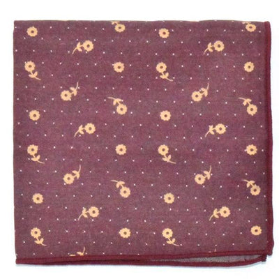 Pocket Square - Polka Dot Sunflower Pocket Square