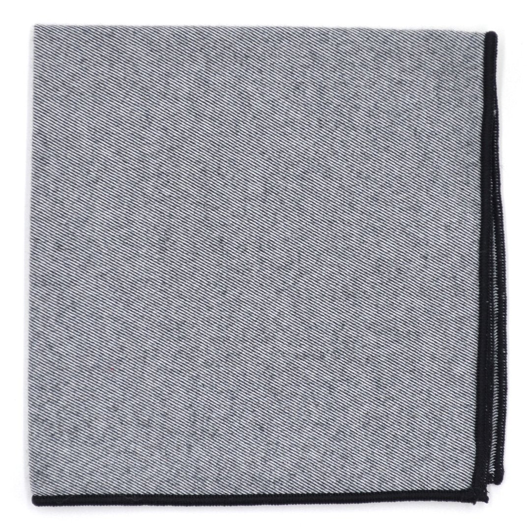 Pocket Square - Shadow Black Pocket Square