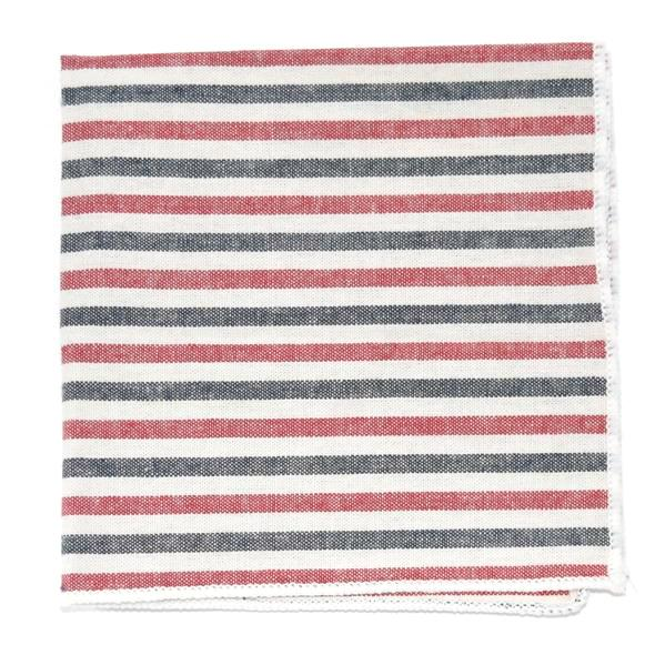 Pocket Square - Striped Stout Patriot Pocket Square