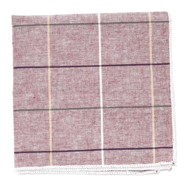 Pocket Square - Window Pane Blush Pocket Square