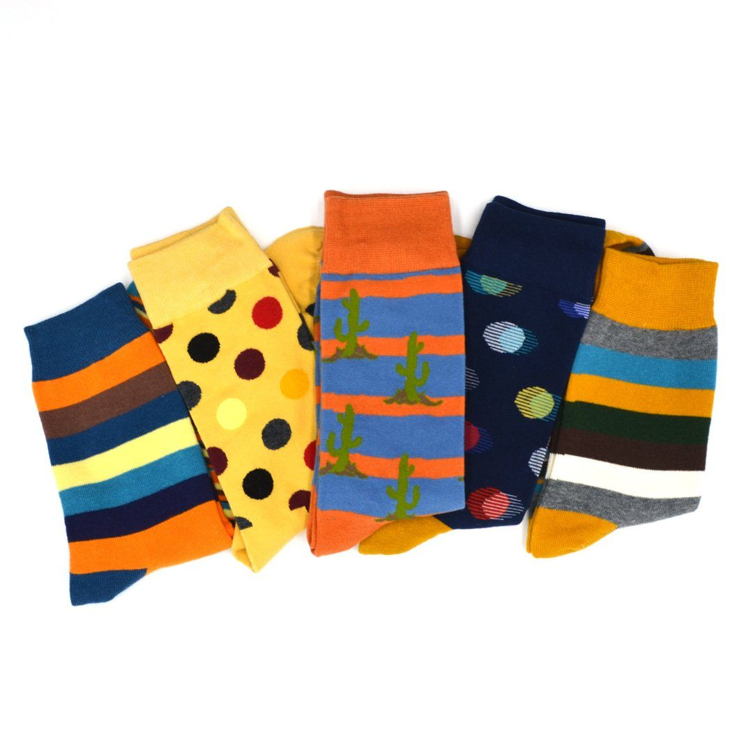 Sock Flights - 70's Men's 5-Sock Flight