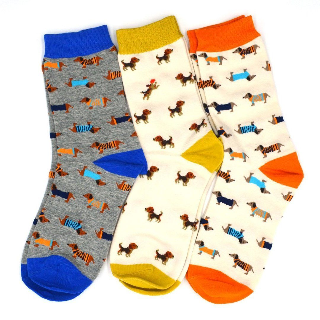 Sock Flights - Doggies Men's 3-Sock Flight