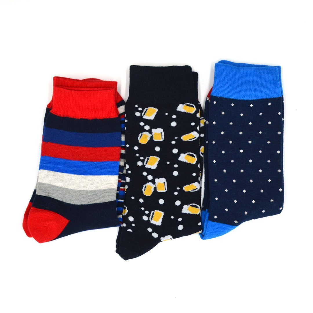 Sock Flights - 'Merica Men's 3-Sock Flight