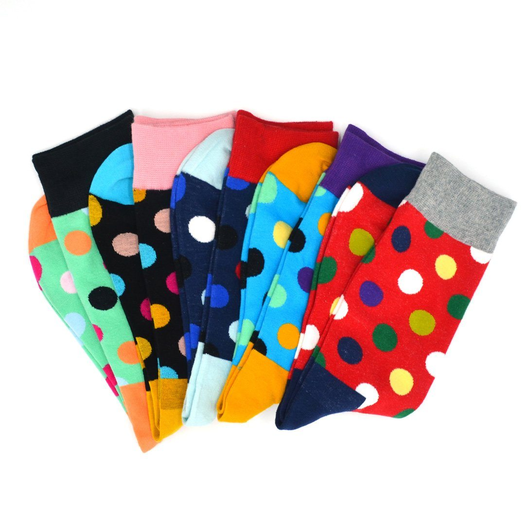 Sock Flights - Polka Dot Men's 5-Sock Flight