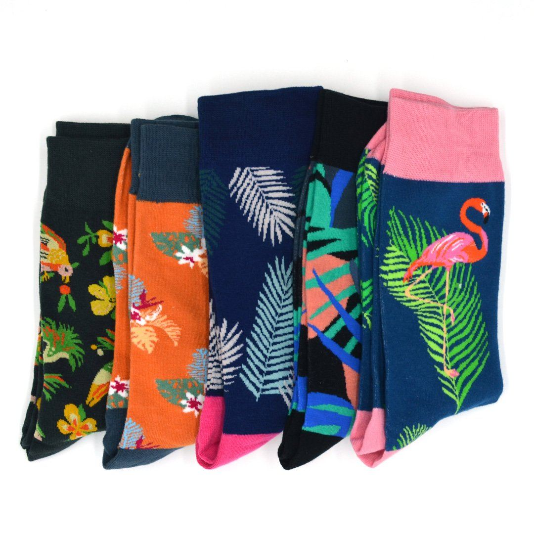 Sock Flights - Tropical Vibes Men's 5-Sock Flight
