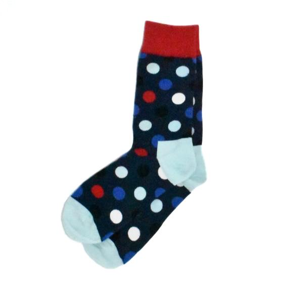 Socks - Polka Dot Navy Blue Toe Men's Socks
